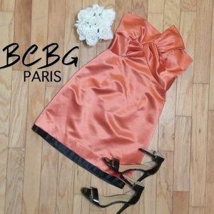Strapless Bow Mini Cocktail dress  EUC